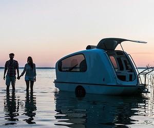A floating caravan