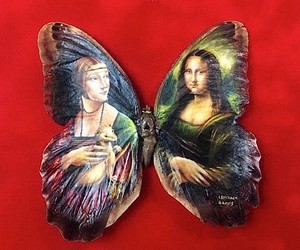 Paintings on the butterfly back