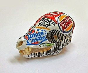 Social criticism painted on animal bones