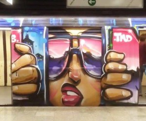 Sofles decorates a subway in Melbourne