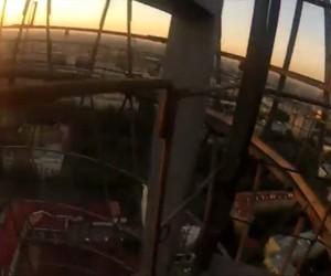 Meet Spider-Man on top of the Shukhovskaya Tower