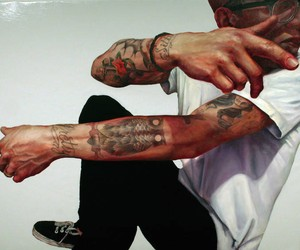 Detailed Paintings of Tattoed People