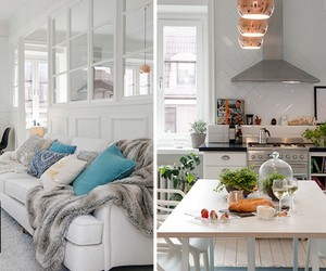 Layered Swedish Living and Kitchen Space