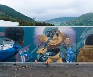 """Mural """"Trollstigen"""" by Telmo Miel"""