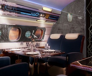 Design aircraft in the style of bygone times
