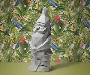 Garden Gnome in monochrome look