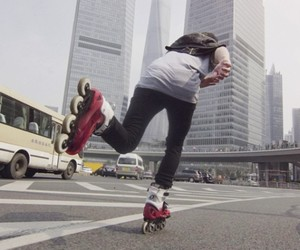 Rollerbladers Takes Us on a Tour Through Shanghai