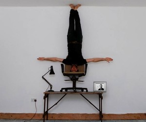 Upside Down Portraits by Caulton Morris