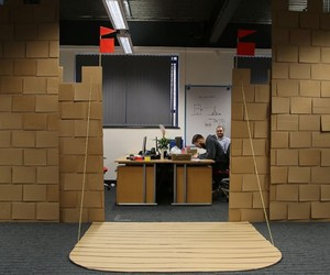 Huge castle made of cardboard: If an employee offi